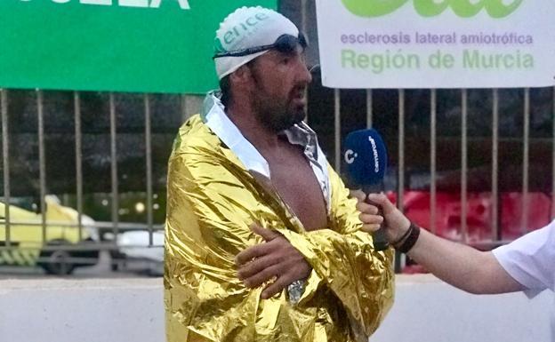Jaime Caballero after finishing the tour.