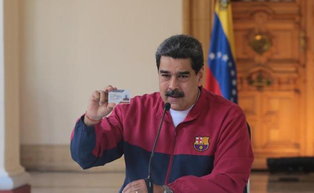 Maduro, during a council of ministers at the Miraflores Palace.