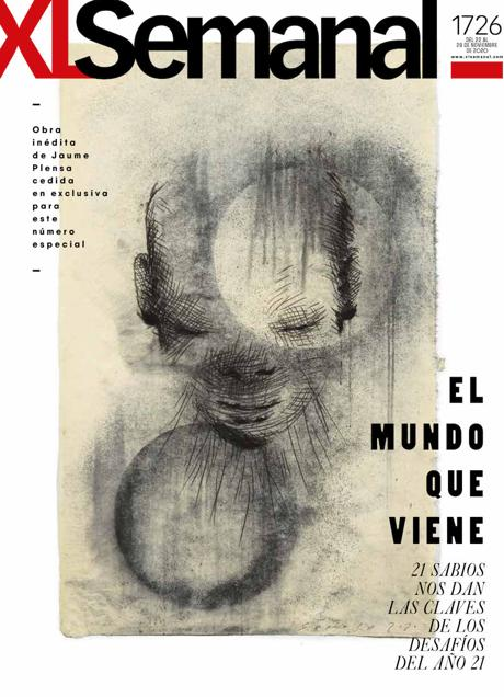 Jaume Plensa has drawn the cover of the 'XL Semanal'.