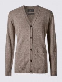 Cardigan en pure laine d'agneau Collection M&S