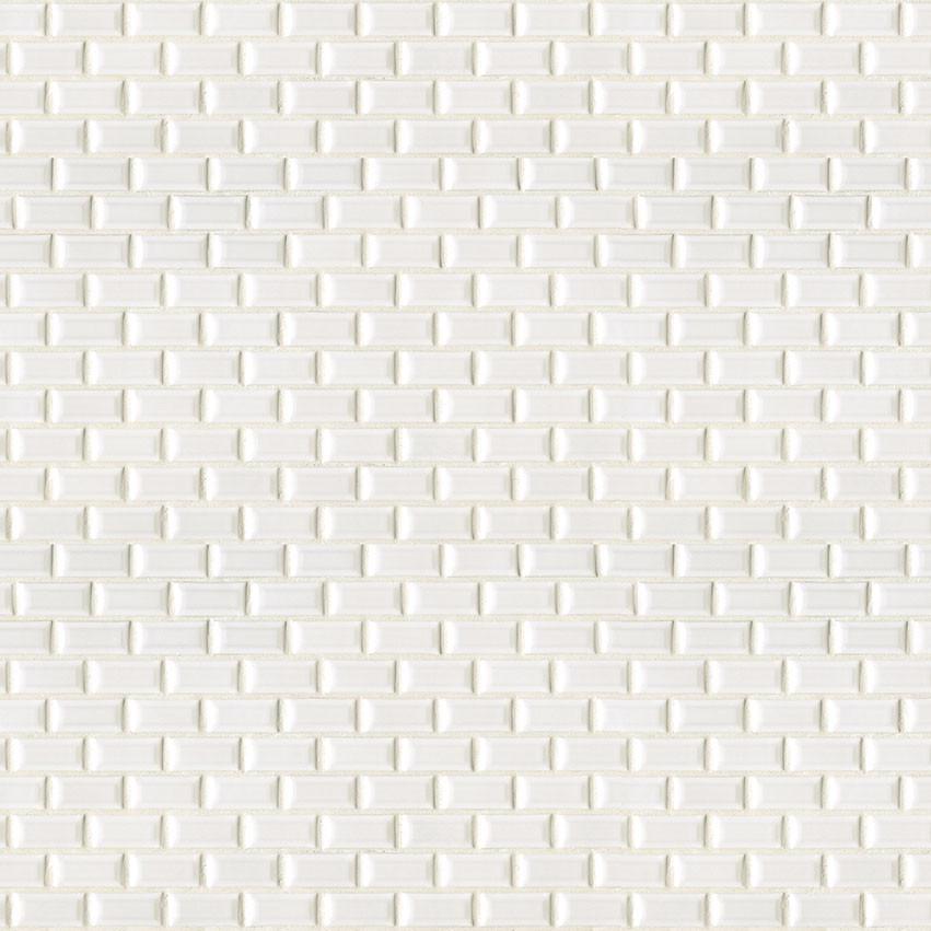 Biseaute Blanc Mini Mureaux Mosaiques Mosaiques En Ceramique Impermo Tegels Natuursteen Parket