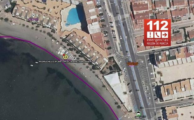 The incident took place on El Pedruchillo beach, in La Manga del Mar Menor.