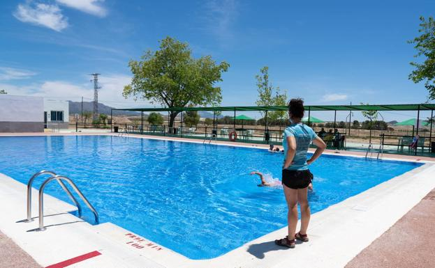 Municipal swimming pool in the Lorca district of Zarcilla de Ramos, in a photo this month.