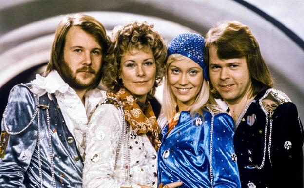 The members of ABBA, in 1974.