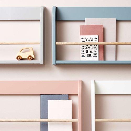 etagere murale a livres bleu gris