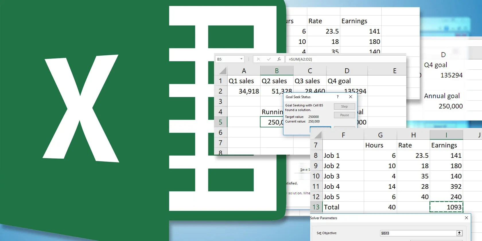 How To Use Excel S Goal Seek And Solver To Solve For