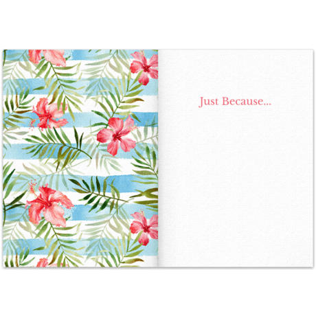 Flowers Just Because Free Just Because Card Just