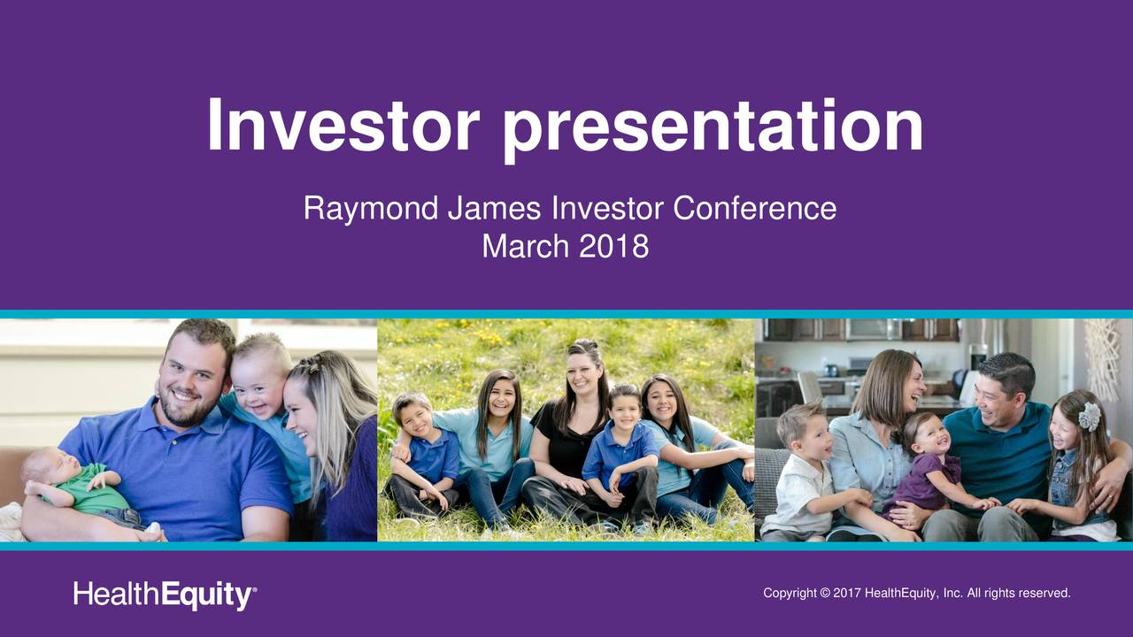 HealthEquity (HQY) Presents At Raymond James 39th Annual ...