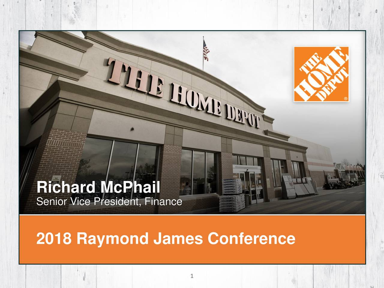 Home Depot (HD) Presents At Raymond James 39th Annual ...