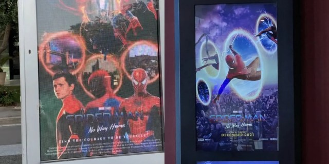 Spider-Man- No Way Home: Theaters are using fan posters to promote the movie