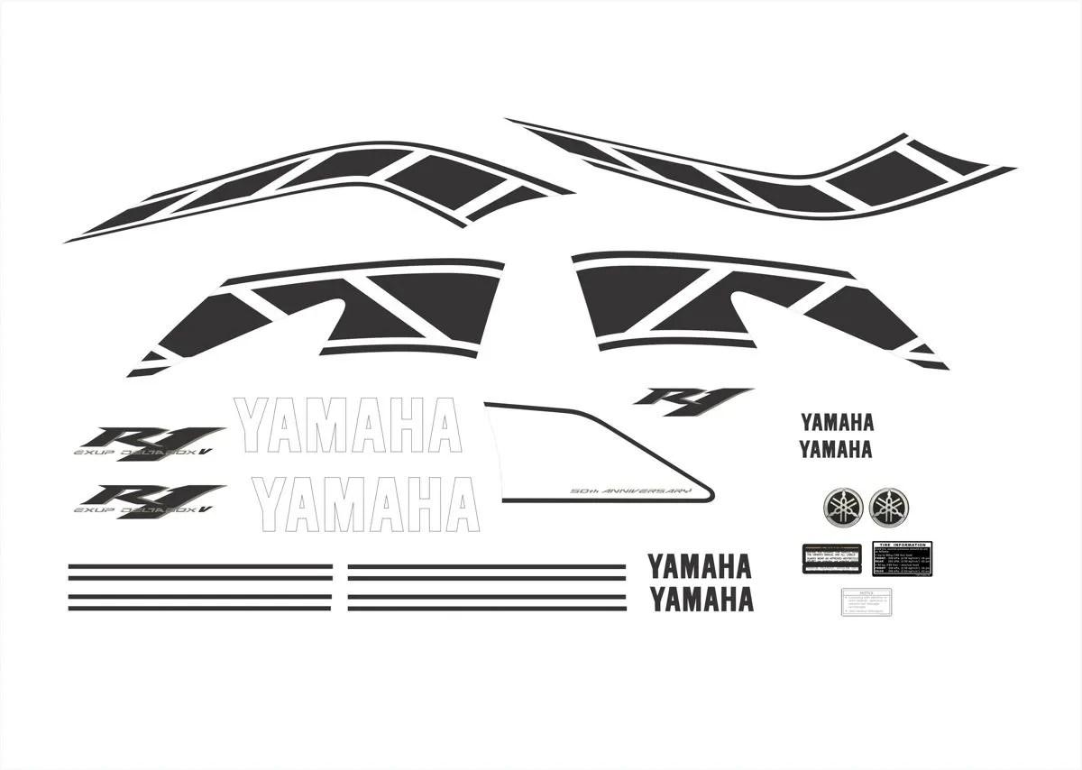 Kit Adesivos Yamaha R1 Amarela 50 Anos R