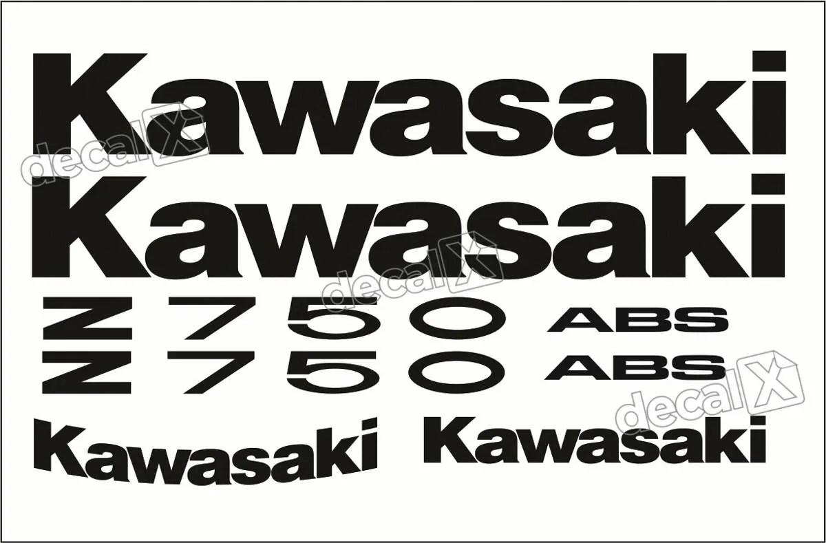 kawasaki ninja 500r wiring diagram � kit jogo faixa emblema adesivo kawasaki  z750 preta