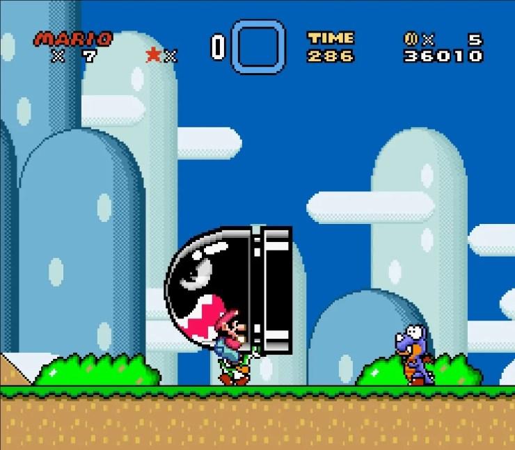 Banzai Bill Trick Super Mario World
