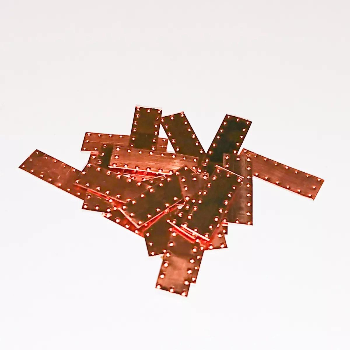 Vörösréz lemez 5 x 15 mm Kiegészítők