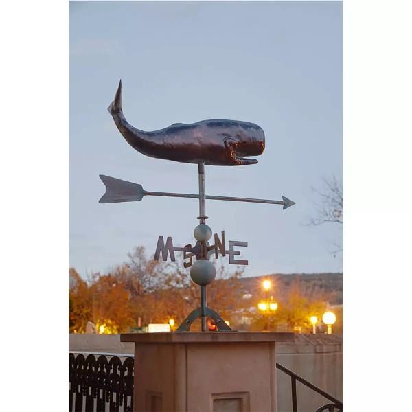 Széljelző antikolt réz bálnás Cégér, tábla