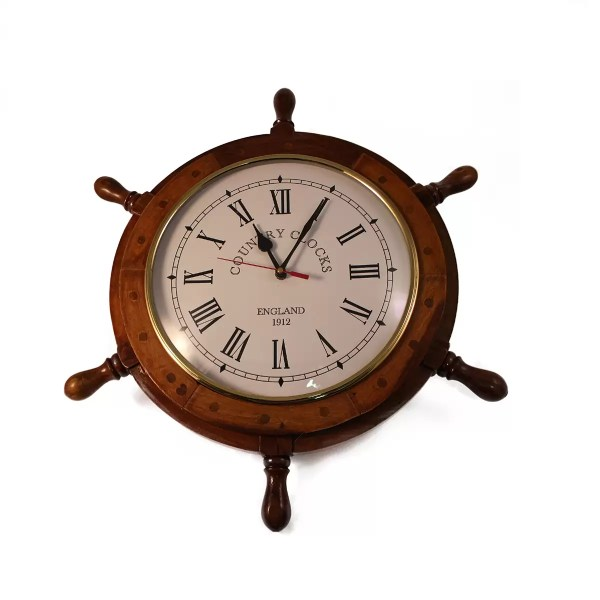 Hajókormány órával 46,5 cm County Clock Kormány, Horgony