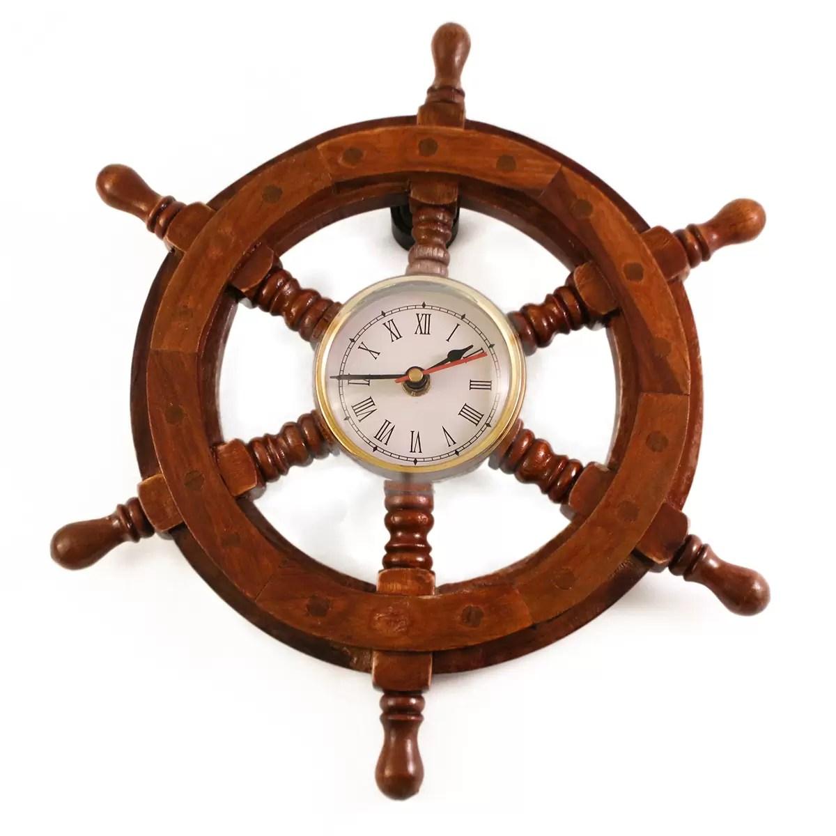 Hajókormány órával 30 cm Kormány, Horgony
