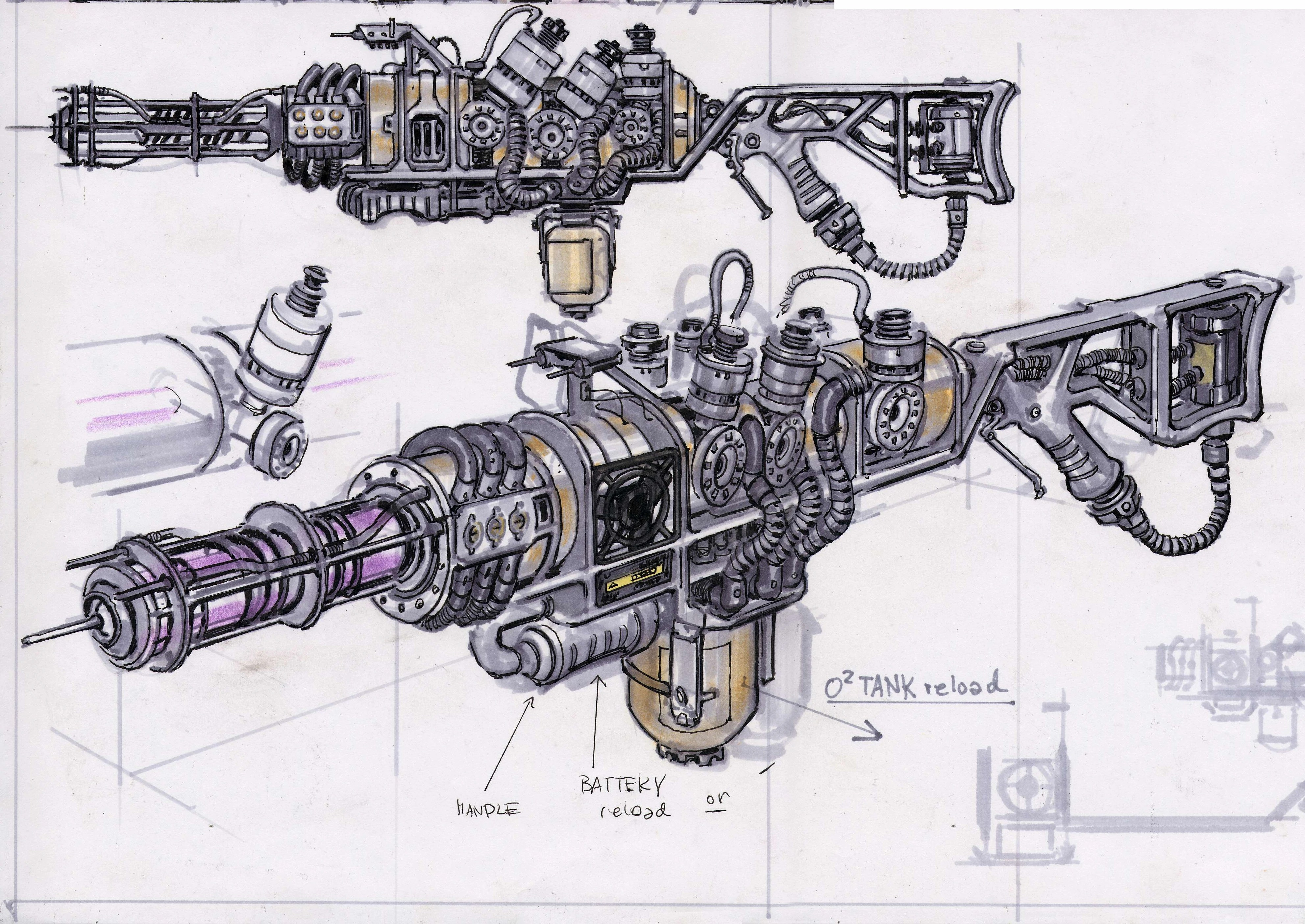 Fallout New Vegas Weapons Concept Art The Fallout Wiki