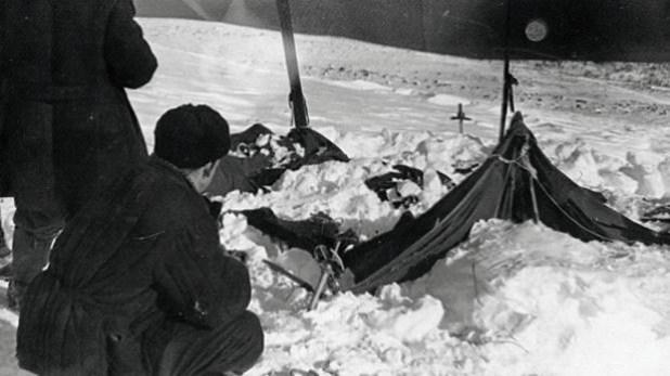 Una vista de la tienda que el equipo de rescate encontró el 26 de febrero de 1959