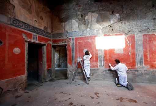 Otra vista de la Casa de los Amantes de Pompeya
