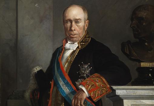 Antonio Alcalá Galiano, ministro de Fomento bajo el gobierno de Narváez en 1865. También hijo del marino Dionisio Alcalá Galiano que participó en la Batalla de Trafalgar.