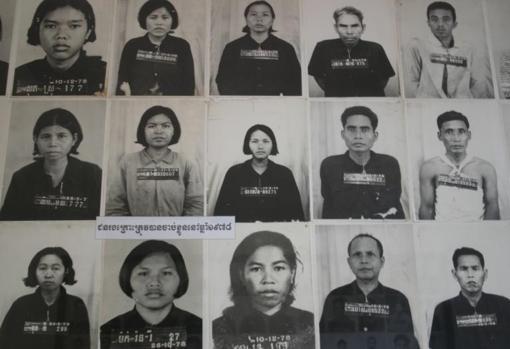 Algunas de las víctimas que sufrieron torturas en la prisión de Toul Sleng, donde murieron entre 15.000 y 20.000 personas a manos de los Jemeres Rojos