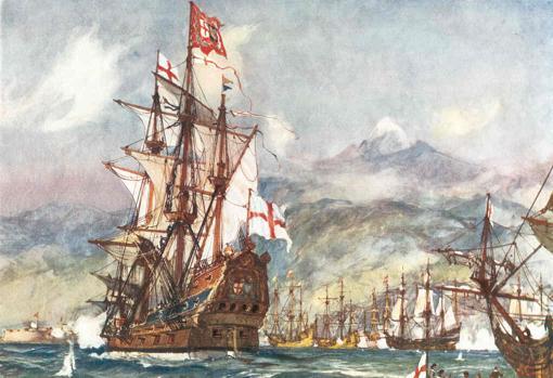 Robert Blake's St. George, in the attack on Santa Cruz de Tenerife in 1657.
