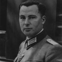 Retrato de Degrelle, durante la Segunda Guerra Mundial