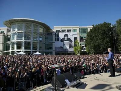 steve jobs apple campus memorial