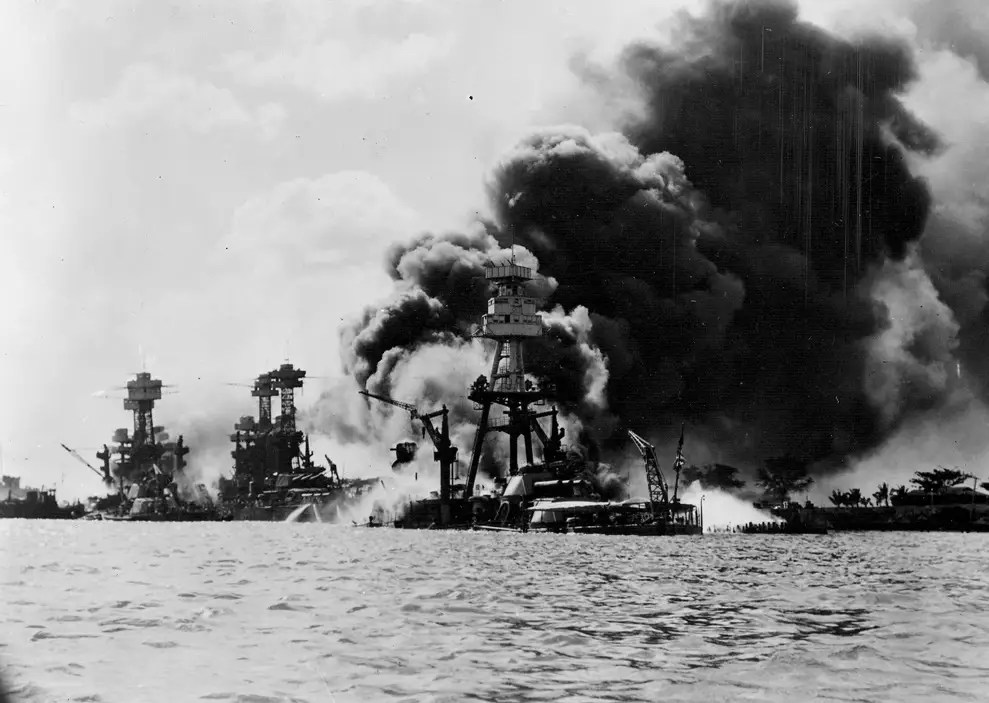 More than 90 ships were anchored at Pearl Harbor. The primary targets were the eight battleships in Battleship Row.