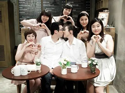 wedding, Asian, couple, love