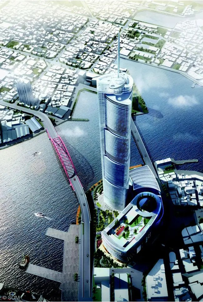 #10 Busan Lotte Town Tower — Busan, South Korea. Height (when completed): 1,675.02 feet