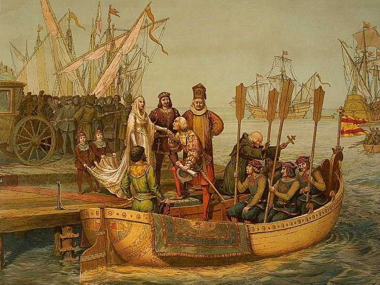 Christopher Columbus boat painting