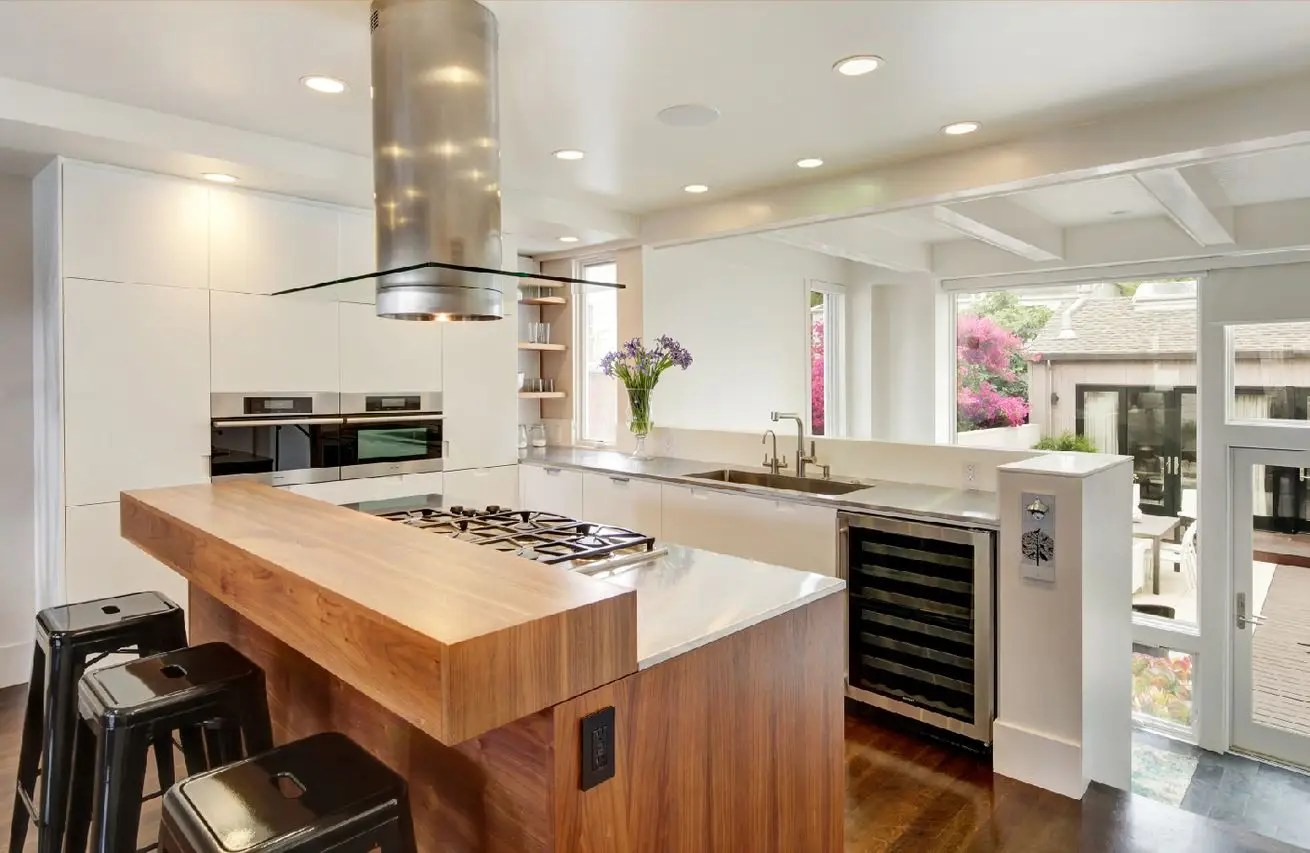 An ultra-modern kitchen.