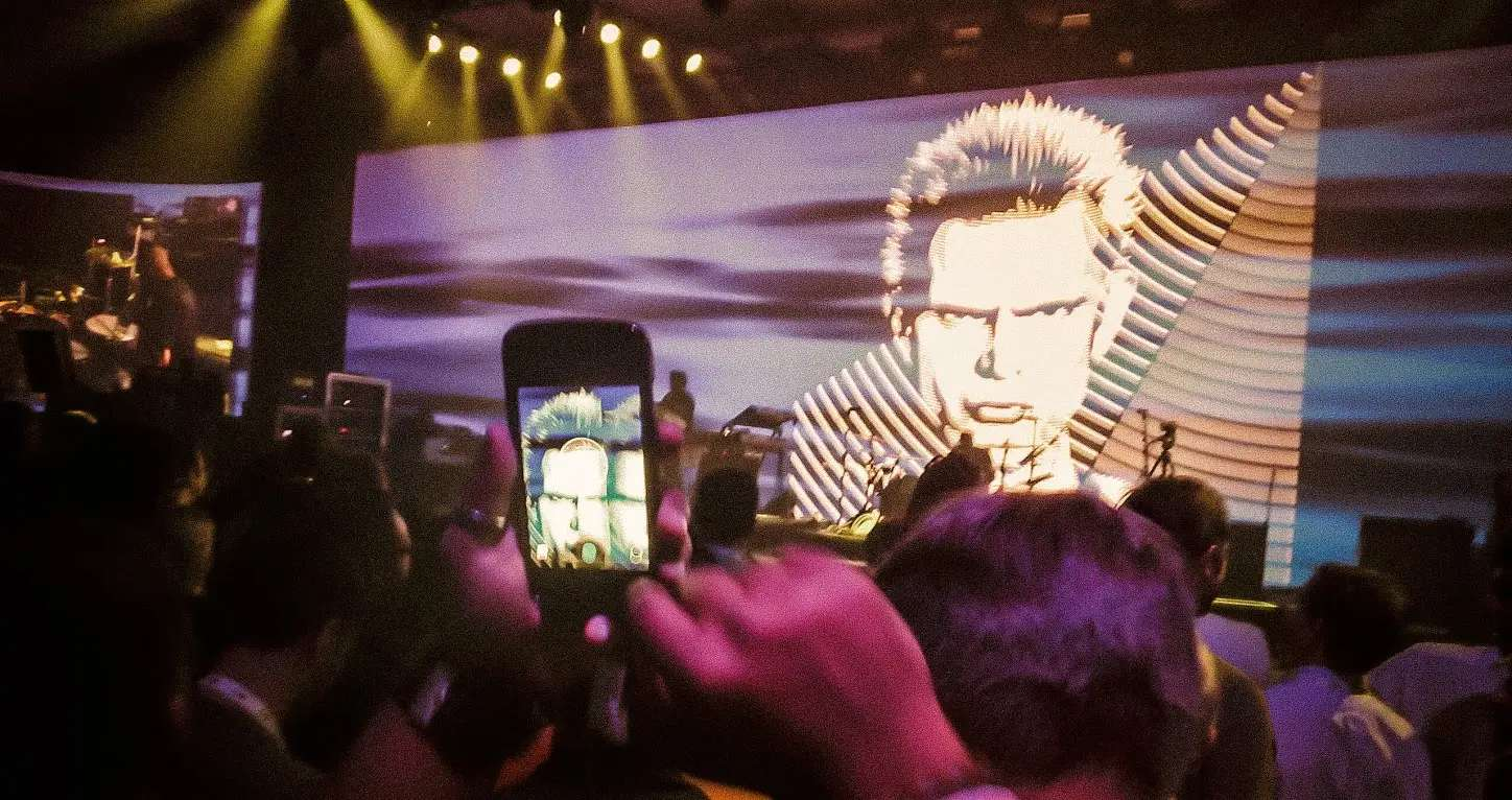 """I did edit many of them using other software tools, but I think that is pretty common nowadays!"" This image was taken at a Billy Idol concert."