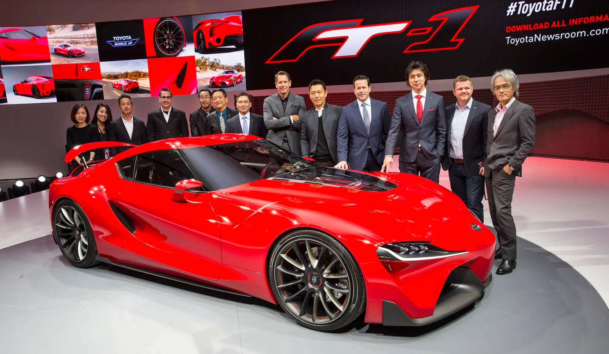 """Toyota blew the doors off with the surprise reveal of the FT-1. The Japanese automaker says the concept sports car """"sets the pace for future design."""""""