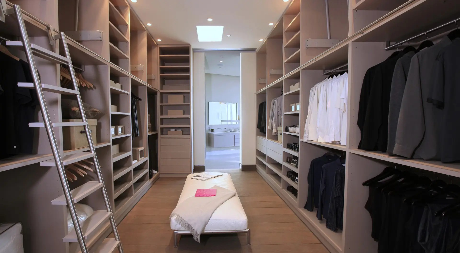 The closet is huge.