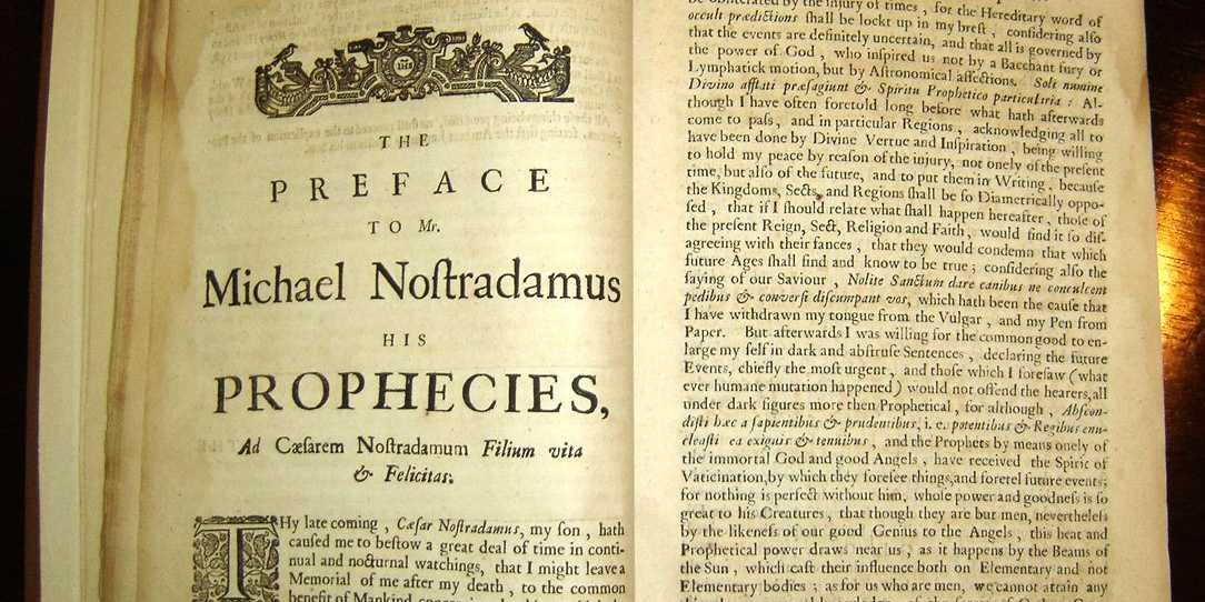 Image result for nostradamus book