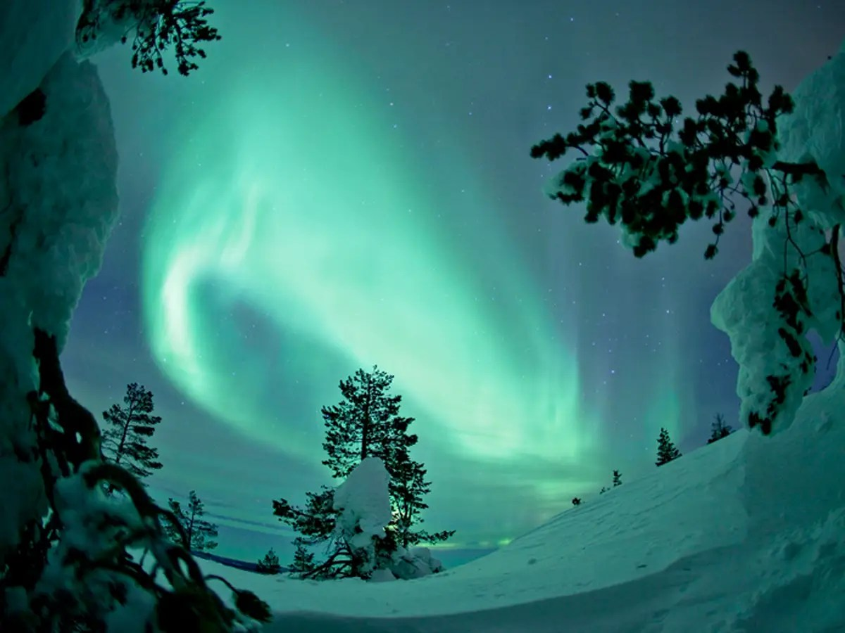 Gaze at the Aurora Borealis from Lapland, in northern Finland.