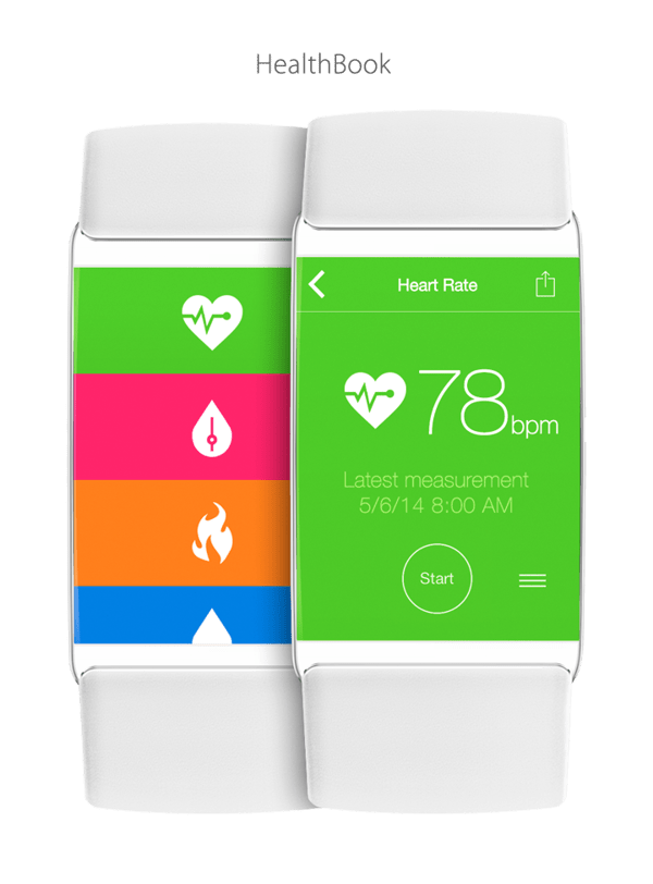 Apple's Healthbook could look similar to the version on your iPhone, just on a smaller screen.