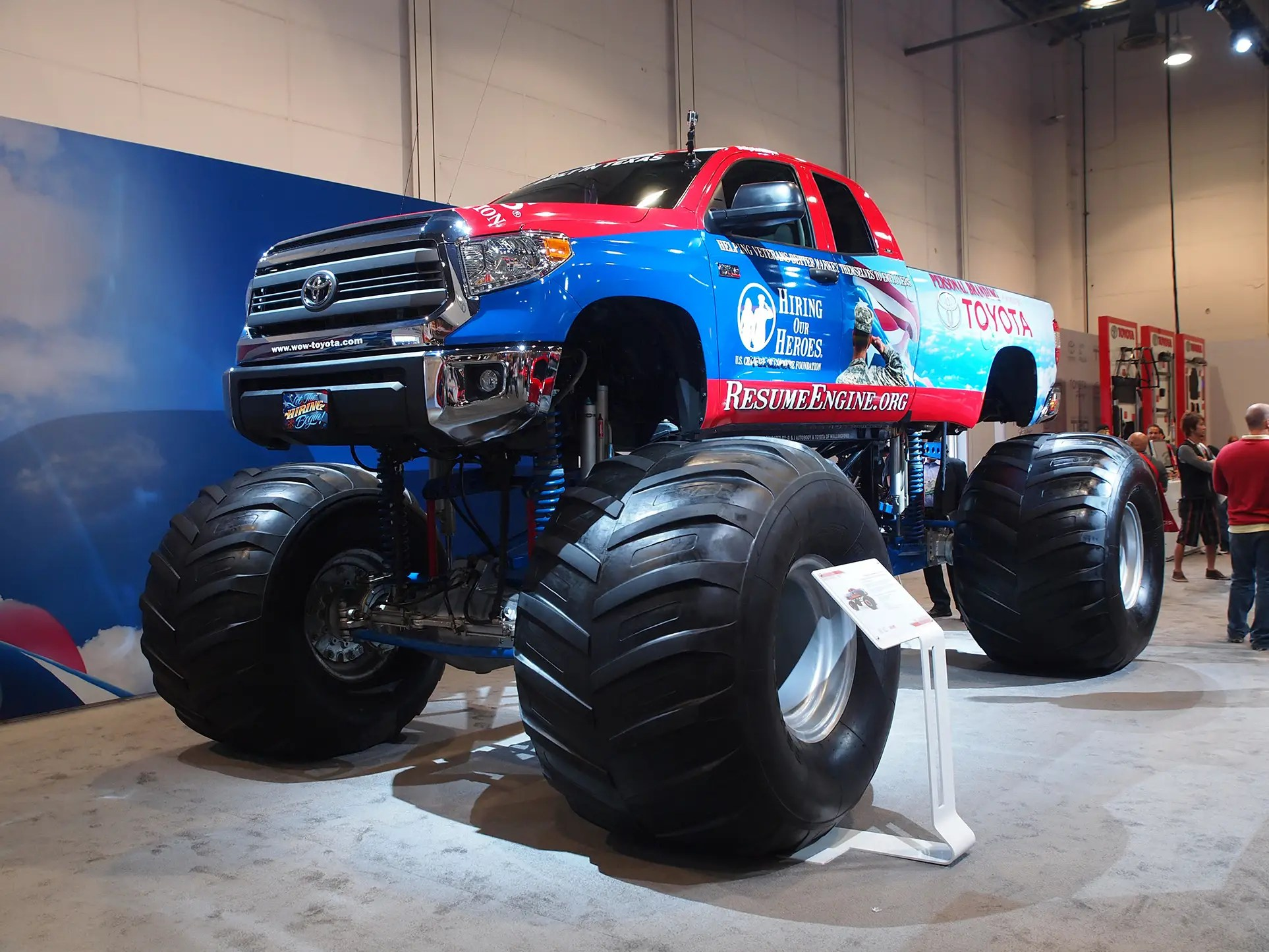 Toyota brought their Tundra monster truck to show off.