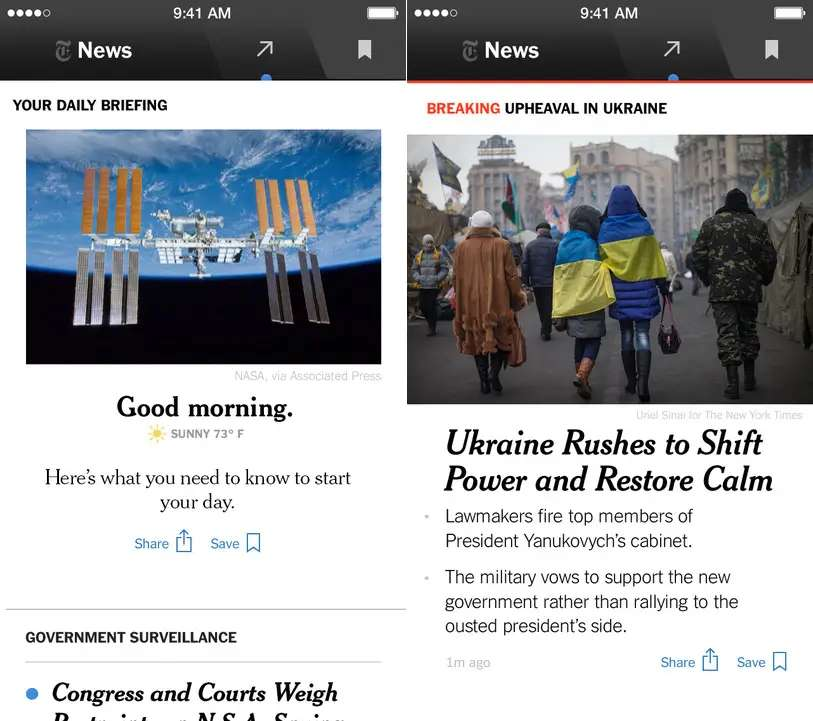 NYT Now is a great way to get your news on the run.