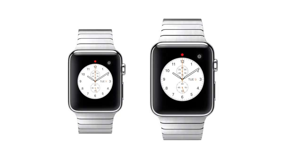 The Apple Watch will come in two sizes, in case you have a tiny wrist.