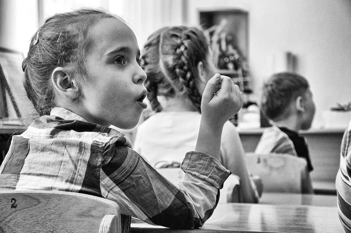 "Elisaveta, age 7. Profession: Student. Passion or Dream: ""I like ballet classes and ballroom dancing."""