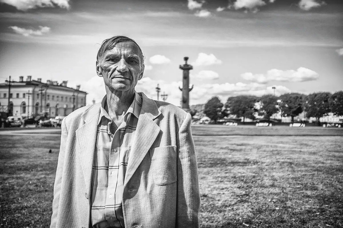 """Anatoliy, age 62. Profession: Radio technician. Passion or Dream: """"I like to play chess and fishing, I love driving my car and I enjoy good food."""""""