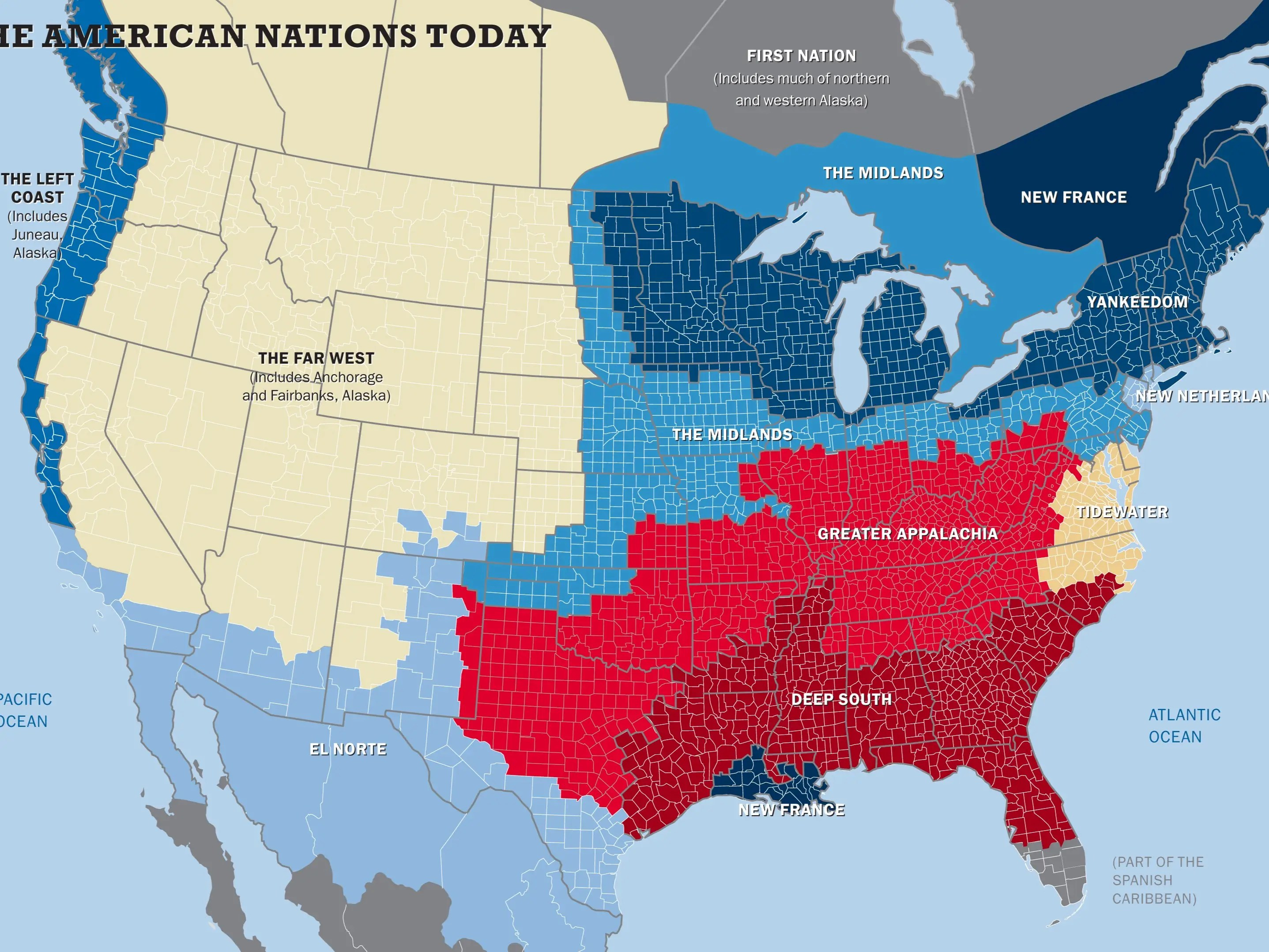The 11 Nations Of The United States