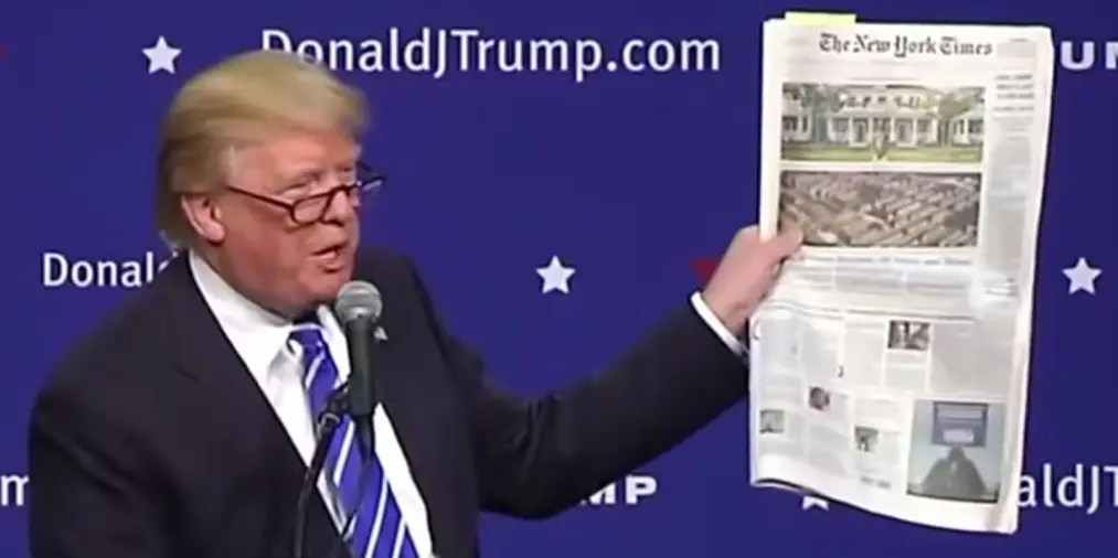 Image result for TRUMP AND NY TIMES