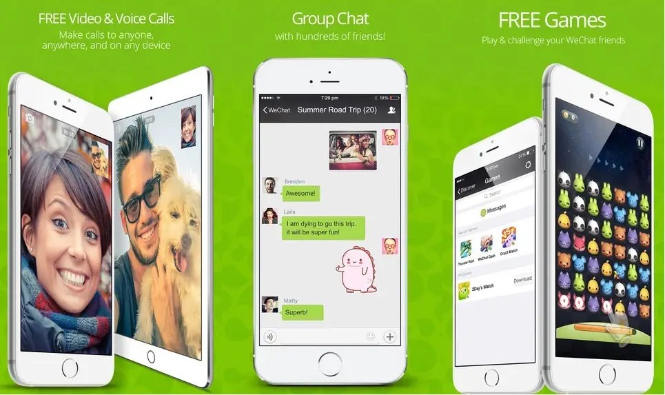 WeChat is huge in China.