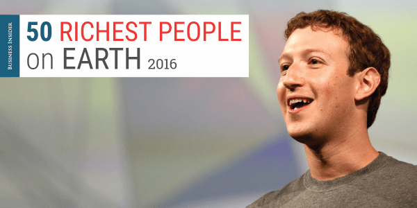 The 50 richest people on earth - Business Insider