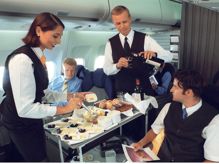 As planes got bigger and faster, it became nearly impossible to serve an entire plane a gourmet meal with multiple courses. The airlines launched frequent flyer programs in the '80s to build customer loyalty, despite declining service standards. The quality disparity between economy and first-class meals began to widen.
